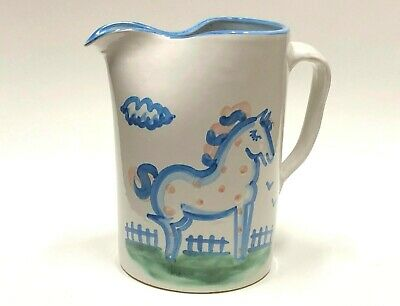 M. A. Hadley Horse Pitcher Large Pinched Spout Art Pottery Collectible Signed