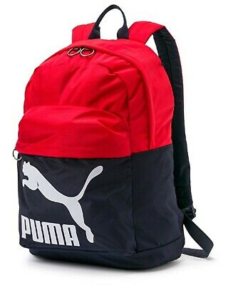 PUMA Originals Backpack Bags Sports Red Navy Unisex Casual School Bag  07479916 a6775a6ee522c