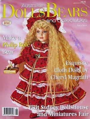 Australian Dolls Bears and Collectables Magazine Vol 5 No 4 with Pattern Sheet