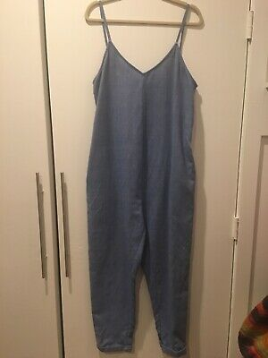 Hatch Collection Maternity Georgie Plage Denim Jumper Jumpsuit Overalls Size 3
