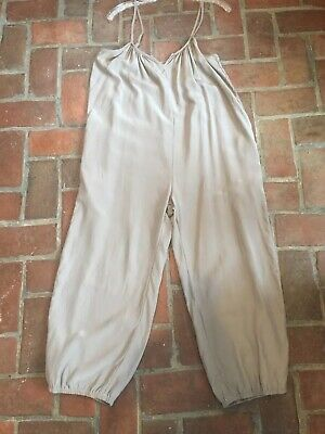 Hatch Collection Maternity Jumper Jumpsuit Overalls Tan Size 0