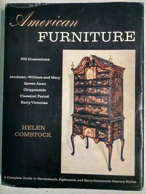 American Furniture By Helen Comstock, 1962 - 700 Illustrations, 17-19Th Century