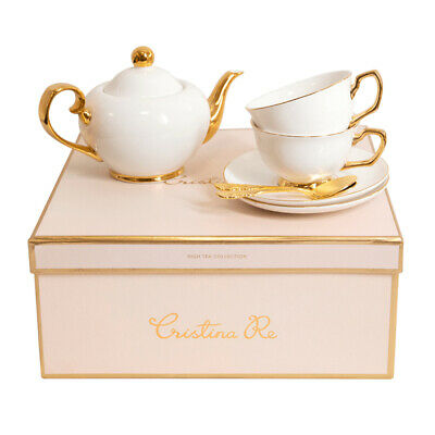 NEW Cristina Re Signature Tea For Two Set Ivory