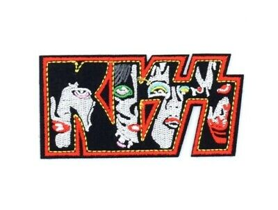 KISS Iron on Sew Embroidered Patch Badge rock Heavy Metal Gene Paul Ace Peter
