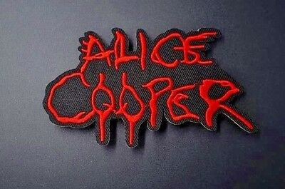 Alice Cooper logo Iron on Sew Embroidered Patch Badge rock band Heavy metal