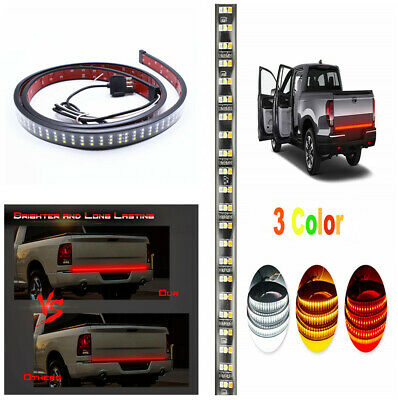 "60"" Triple Row 405 LED 3 Colors Tailgate Light Bar Turn Signal Brake Reverse DRL"