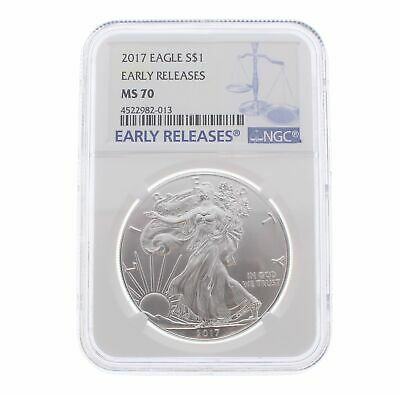 2017 American Eagle 1oz .999 Silver Bullion Coin ASE - NGC MS70 Early Release