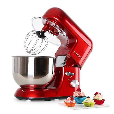 Modern Red Stainless Steel 5.2 L Food Processor Dough Mixer Blender New Kitchen