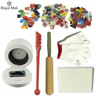 UK STOCK 10Pcs Stained Glass Fusing Supplies Microwave Kiln Kit Tool DIY