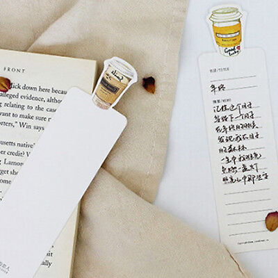 30pcs Coffee Diary Theme Bookmarks Marker Stationery School Office Gift N7