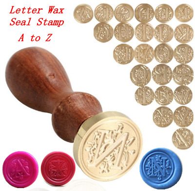 Custom Made Alphabet Initial Sealing Wax Stamp Invitations Logo Gift Letter A-Z