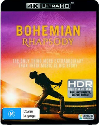 Bohemian Rhapsody 4K Ultra HD + Blu-ray BRAND NEW Region B