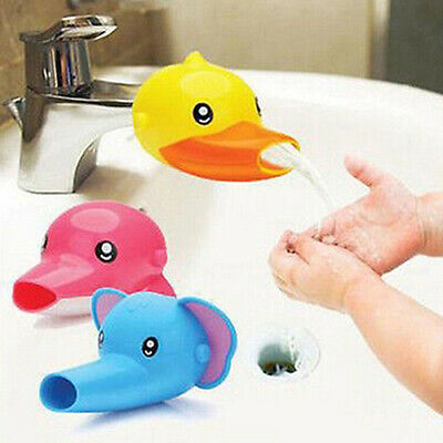 Happy Fun Animals Faucet Extender Baby Kids Hand Washing Bathroom Sink Gift Nice