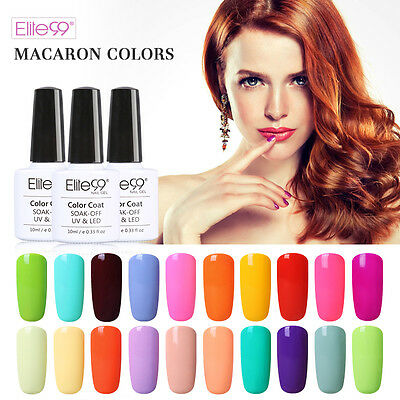 Elite99 Macaron Color Esmalte Semipermanente Brillante de Uñas en Gel Manicura