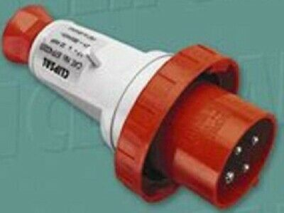 Clipsal INDUSTRIAL STRAIGHT PLUG 400V 32A 3hr 4-Pins Round, Red *Aust Brand