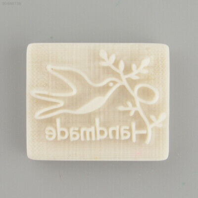 E2CD Pigeon Desing Handmade Yellow Resin Soap Stamp Stamping Mold DIY Gift
