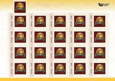 Litauen Lithuania Lietuva  MNH PERSONALIZED STAMP  issue full sheet