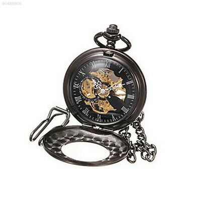 152F Black Pocket Watch Men Hanging Women Roman Retro Mechanical Jewelry