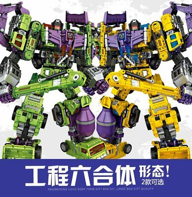 NBK OVERSIZED Devastator Robot Green/Yellow Ver Action Figure In Stock New