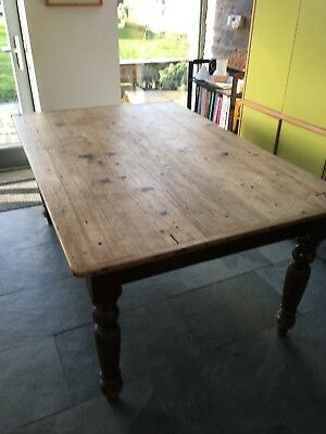 Rustic Victorian/antique Pine Kitchen Table