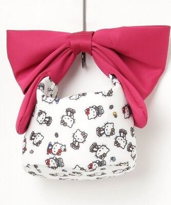 7ff810fa6f09 Hello Kitty Ninamew Big Ribbon Tote Bag Handbag Shoulder Purse from Japan  N1108