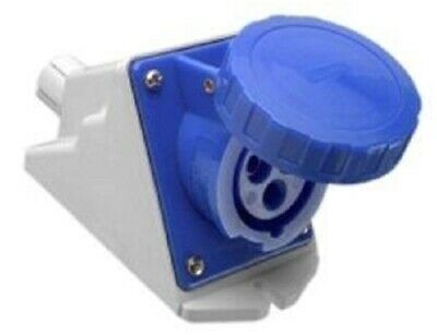 Clipsal INDUSTRIAL SOCKET OUTLET 230V 3-Pins Round, Angled*Aust Brand-16A Or 32A