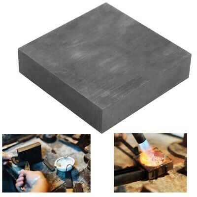 100x100x25mm High Purity Graphite Plate Block Electrode Heat Rectangle Sheet 1pc