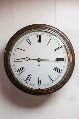 Antique Fusee Movement Wooden Wall Clock