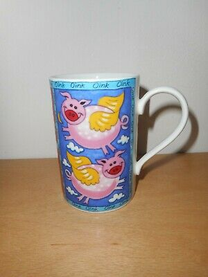 DUNOON STONEWARE PIGGY WIGGIES MUG DESIGN BY JANE BROOKSHAW. New