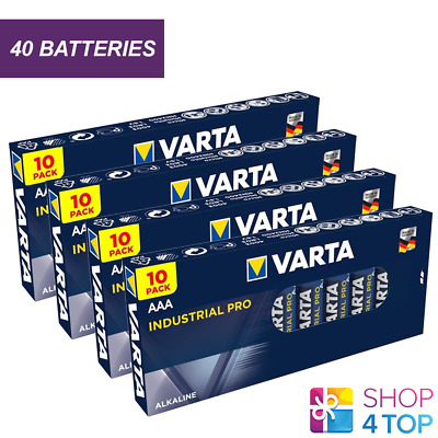 40 Varta Industrial Alkaline Aaa Lr03 Batteries 1.5V Micro Am4 E92 Mn2400 New