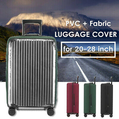 20-28'' Transparent PVC Elastic Luggage Cover Suitcase Dustproof Case Protector