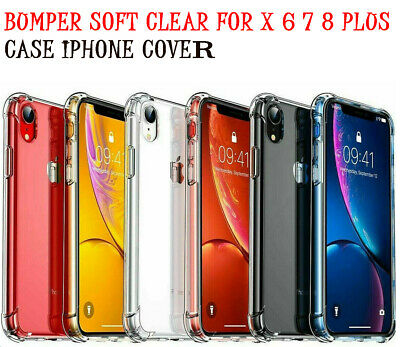 For Apple Phone Case 8 7 6 Plus 6S X XS XR Max Silicone Shockproof Cover