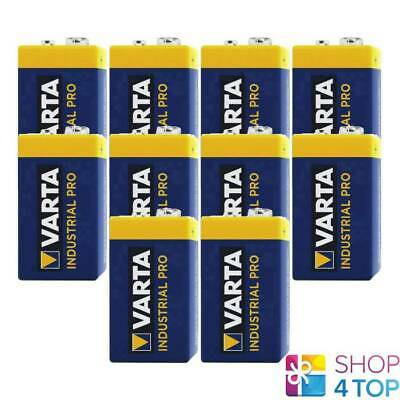 10 Varta Industrial Pro 9V Alkaline 6Lr61 Batteries E Block 6Am6 Mn1604 En22 New