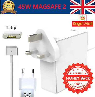 "For 45W Macbook Air 11"" 13"" MagSafe 2 Power Adapter Charger A1465 A1465 A1436 UK"
