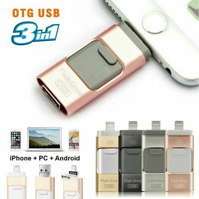 New USB i-Flash Drive 32 64 128GB OTG Disk Storage Memory Stick for iPhone 5 6 6
