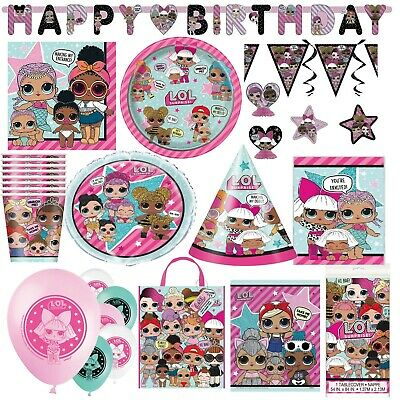 LOL Surprise Birthday Party Girls Tableware Dolls Decorations Supplies Childrens