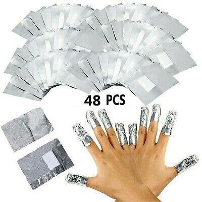 100 Nail Foil Gel Wraps Polish Remover Art Soak Off Acrylic Removal - No Acetone