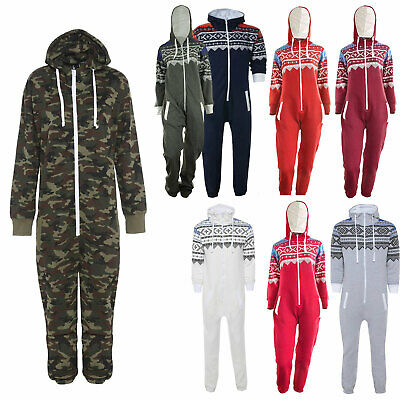 Unisex Kids Boys Girls Aztec Army 1Onesie All In One Hooded Jumpsuit 1-13 Years