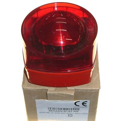 Fire Emergency Strobe Beacon Alarm IP55 Weatherproof Red Lens UK Made Honeywell