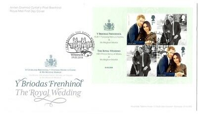 2018 GB FDC Royal Wedding FIRST DAY COVER Harry and Meghan 19/05/2018 Windsor