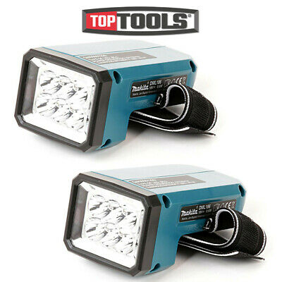 Makita DML186 18 Volt Rechargeable Fluorescent LED Flashlight Torch Twin Pack