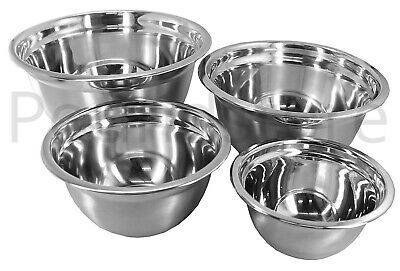 Stainless Steel Metal Mixing Bowl Caterer Professional Range Salad Pasta Bowls