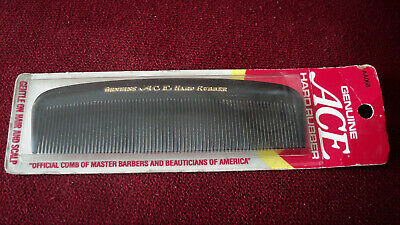 "Vintage NEW Ace Hard Rubber AA068 5"" Pocket Comb Made in USA"
