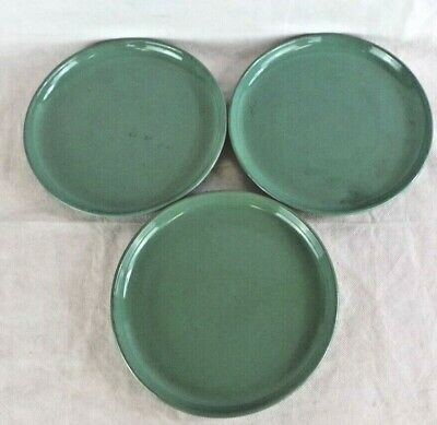 Denby Manor Green Side Plates x 3