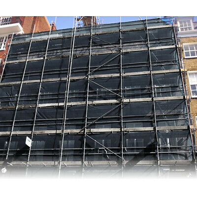 2M X 50M Black Scaffold Debris Safety Fence Netting Protection Knitted Fabric