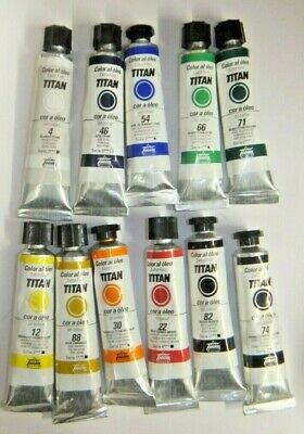 Professional Artists Oil Paints - Pure Pigment - Titan Extra Fine 20ml x10