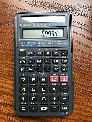 Casio FX-260 Solar ll Fraction Calculator With Cover Tested And Working