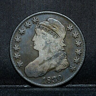 1830 Capped Bust Half Dollar ✪ Choice Fine F ✪ 50C Silver L@@k Now ◢Trusted◣