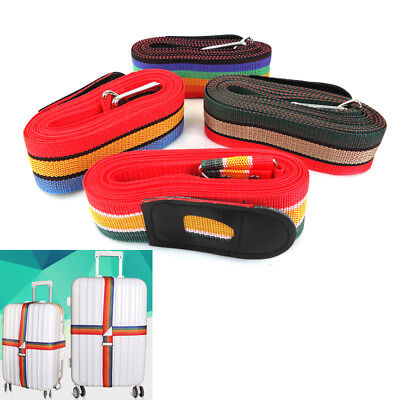 5Cm*4.5M Cross Suitcase Safe Packing Belt Adjustable Luggage Suitcase randomFBB