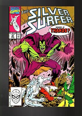 Silver Surfer 37 - Marvel 1990 Vfn- / Jim Starlin & Ron Lim / Infinity Gauntlet